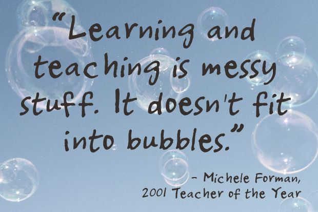 Learning and Teaching Doesn't Fit into Bubbles