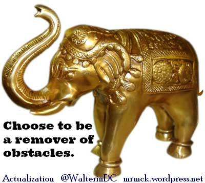 Choose to be a Remover of Obstacles